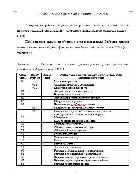 Контрольная работа по Бухгалтерскому учету Вариант №  Контрольная работа по Бухгалтерскому учету Вариант №3 18 09 12