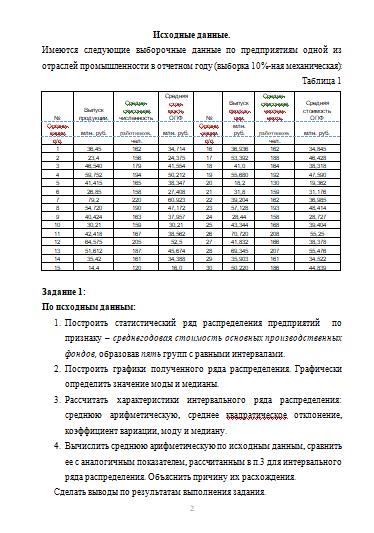 Контрольная работа по Статистике Вариант Контрольные работы  Контрольная работа по Статистике Вариант 14 23 09 12