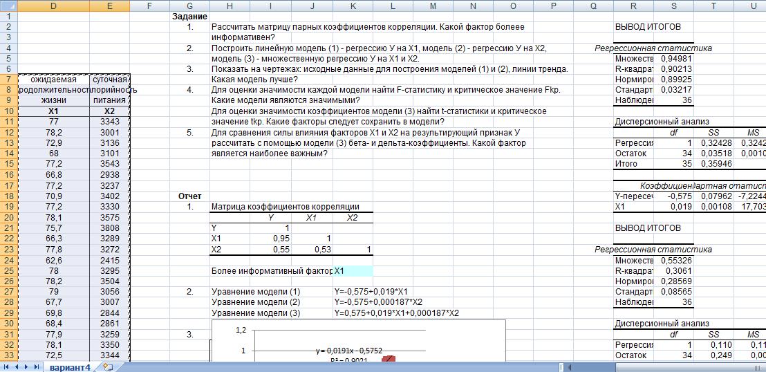 Как сделать коэффициент корреляции
