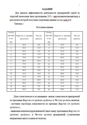 Контрольная работа по Статистике Вариант Контрольные работы  Контрольная работа по Статистике Вариант 6 18 09 11
