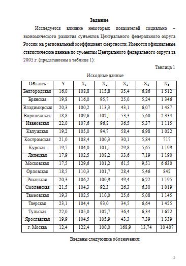 Контрольная по эконометрике вариант Контрольные работы Банк  Контрольная по эконометрике вариант 7 30 05 13