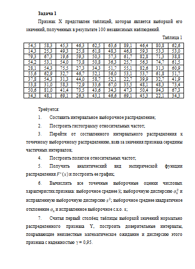 Примеры задач по статистике с решением дисперсии химия для заочников решение задач бесплатно