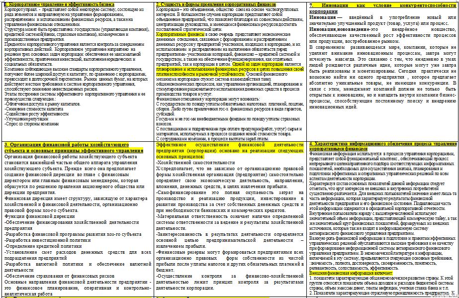 Корпоративные Финансы Шпаргалка С Ответами