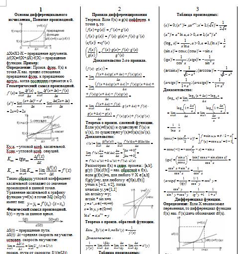 курс семестр 2 высшей шпаргалки 3 по математике