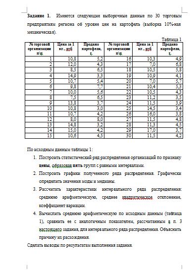 Контрольная работа по Статистике Вариант Контрольные работы  Контрольная работа по Статистике Вариант 9 01 05 15