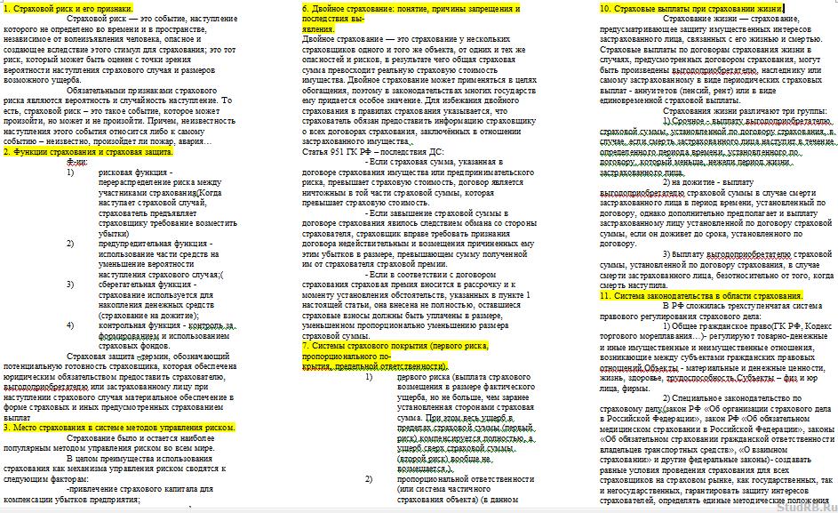 Договор Страхования Понятие, Содержание, Виды Шпаргалки