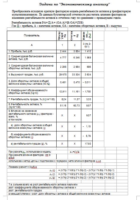 Задачи по эконом анализу с решениями интересные экологические задачи с решением класс
