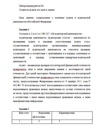Сущность аудита и его задачи реферат 3884