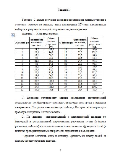 Контрольная работа по Статистике Вариант Контрольные работы  Контрольная работа по Статистике Вариант 7 01 11 16