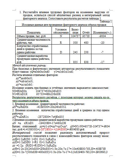 Теория анализа контрольная работа вариант Контрольные работы  Контрольная по теории экономического анализа вариант 4 15 02 11